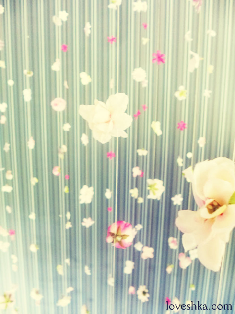 お花カーテン